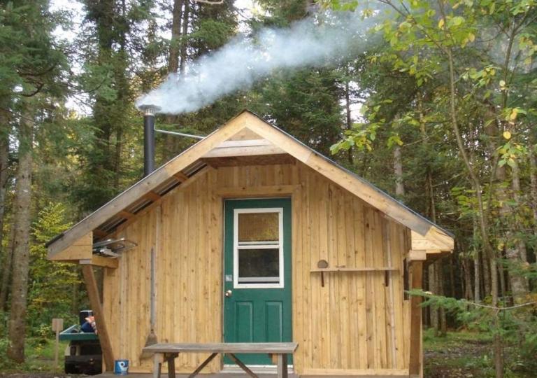 Mini camp rustique